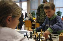 Zweite Station der Schachrallye
