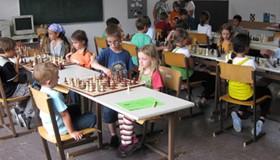 Start der Schachrallye in Landeck
