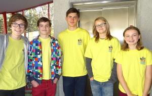 Die siegreiche Mannschaft der Tiroler Schachschule