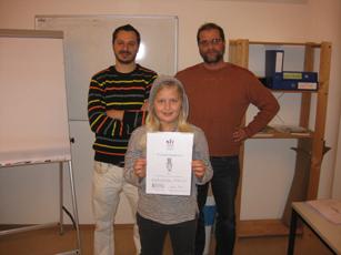 Zeugnisverteilung Mittwoch-Kurse - Wintersemester 2015/16