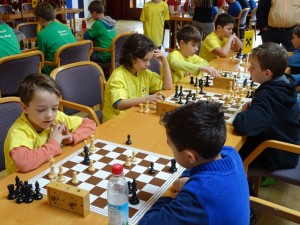 Tir. Schachschule 4: Simon CASAGRANDA, Julien DEDIEU, Xaver HALBEIS, Konstantin HALBEIS