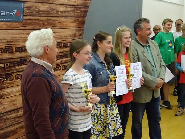 Die besten Mädchen: vlnr. Theresa PRIMUS (16.), Angelina ZHBANOVA (3.), Miriam WURZER (12.)